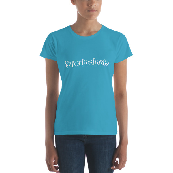 T-shirt femme superlooloote turqoise