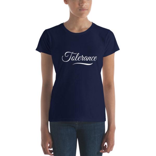 T-shirt Femme Tolerance Bleu Marine