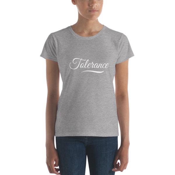 T-shirt Femme Tolerance gris