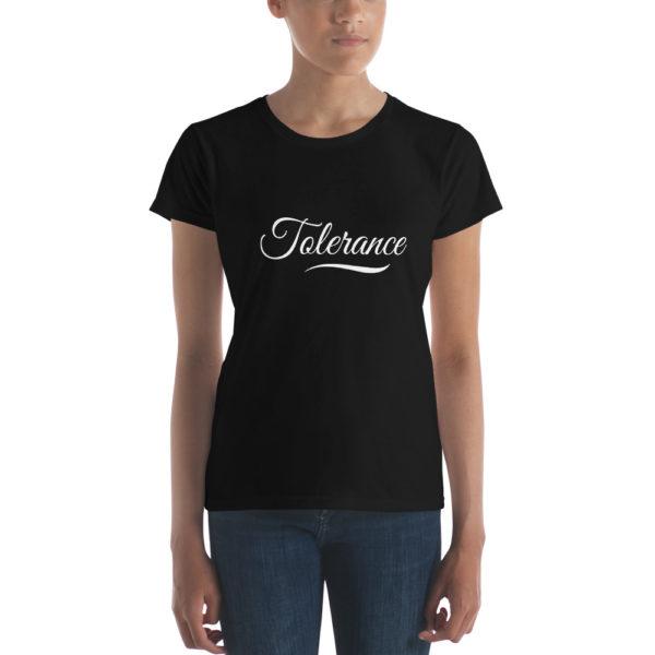 T-shirt Femme Tolerance Noir