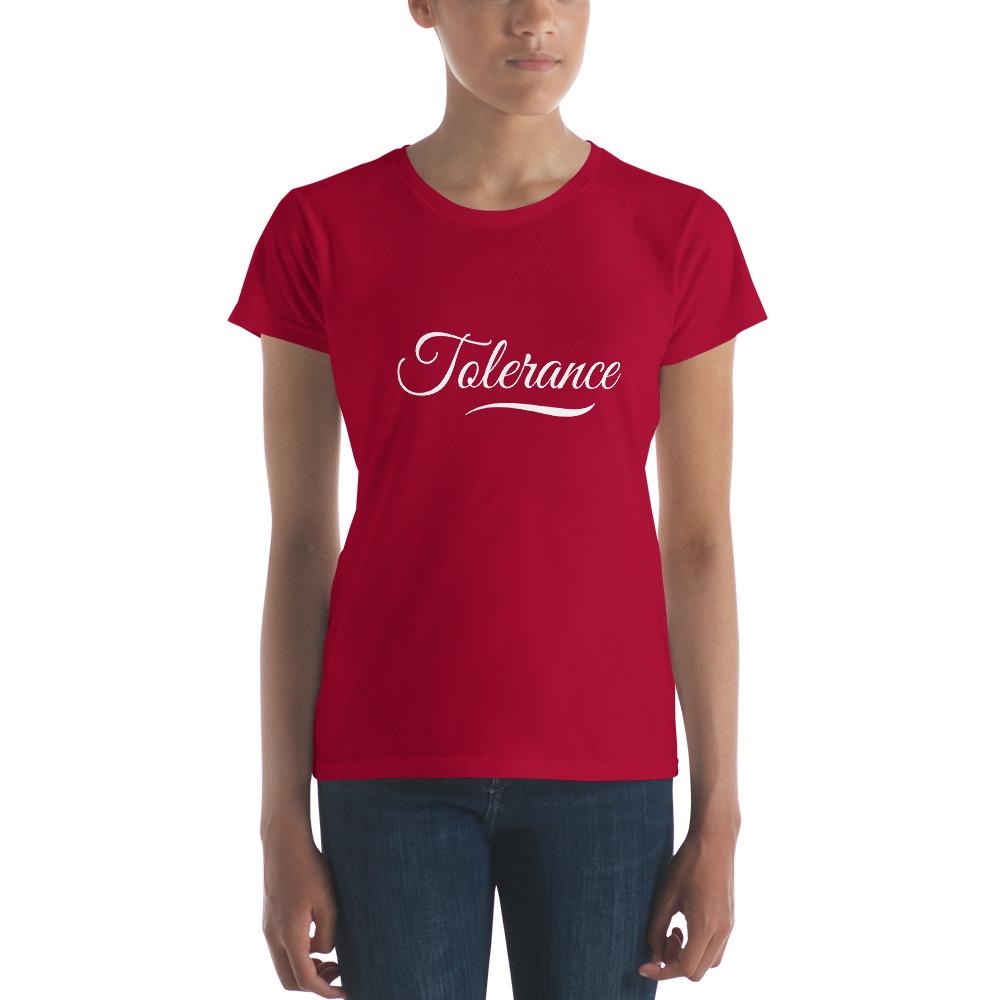 T-shirt Femme Tolerance Rouge