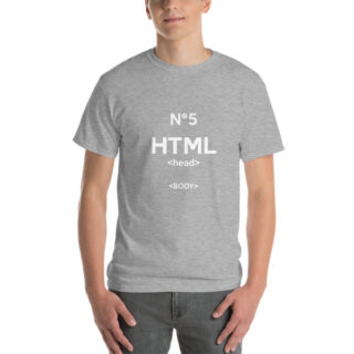 T-shirt large homme HTML5 gris