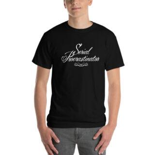 T-shirt large Serial Procratinator noir