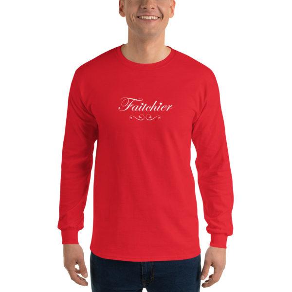 T-shirts originaux Manches longues Faitchier Rouge