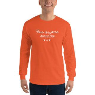 T-Shirt Manches longues Tous les jours Dimanche orange
