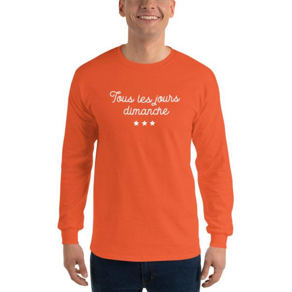 T-shirt original Manches longues Tous les jours Dimanche orange