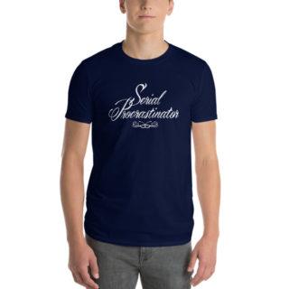 Tee-shirt étroit Serial Procrastinator bleu marine