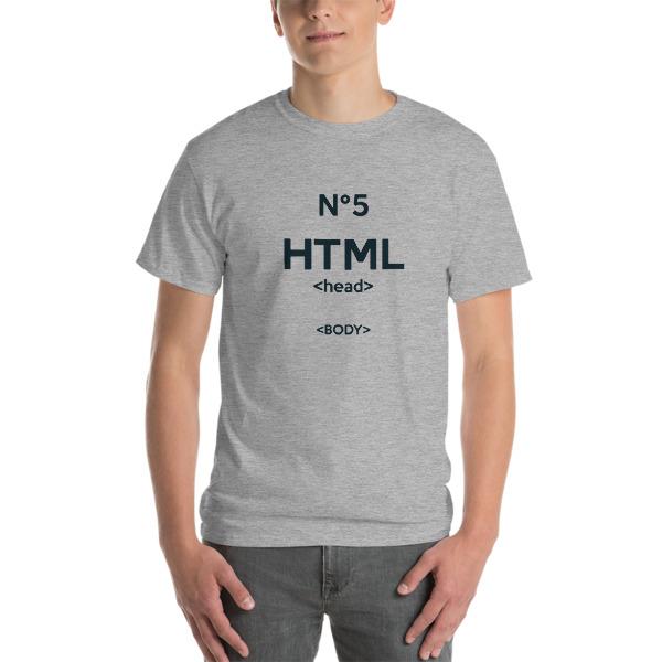 Tshirt HTML5 large gris