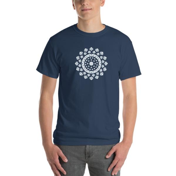 tshirt large Mandala bleu moyen
