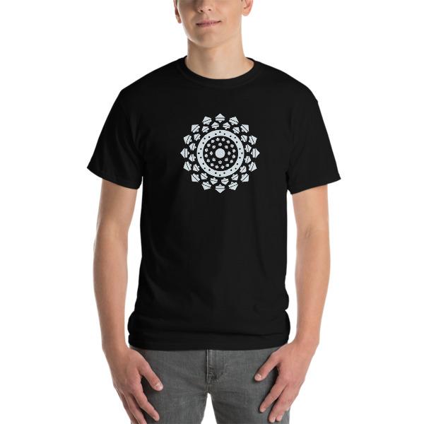 tshirt large Mandala noir